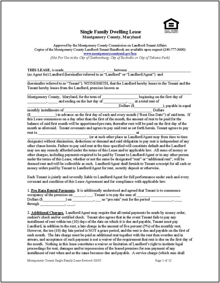 Free Download Rental Lease Agreement Templates