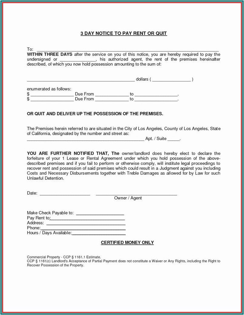 Free Ga Eviction Notice Form
