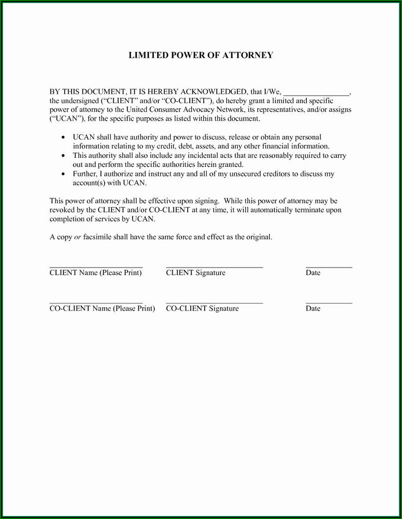 Free General Power Of Attorney Form Nj