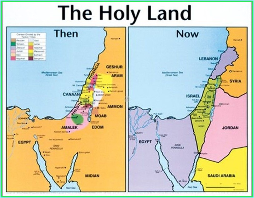 Free Maps Of The Bible Then And Now
