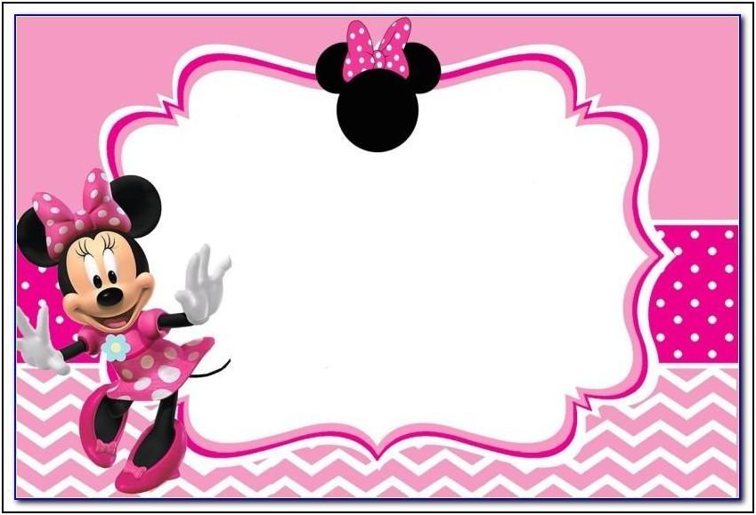 Free Minnie Birthday Invitation Templates