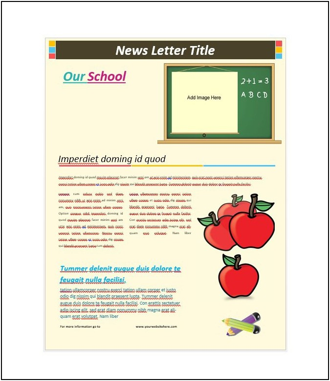 Free Newsletter Templates For Publisher 2016