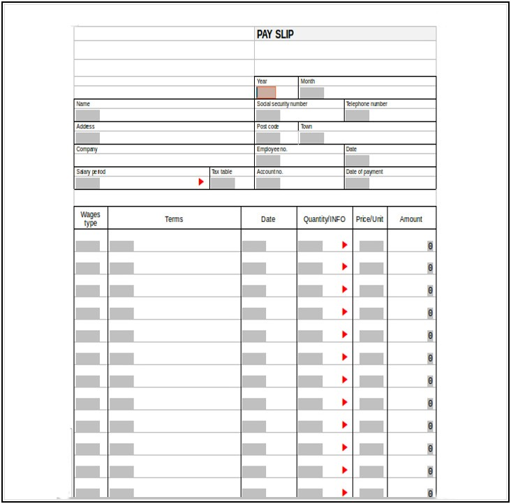 Free Paycheck Stub Template Excel