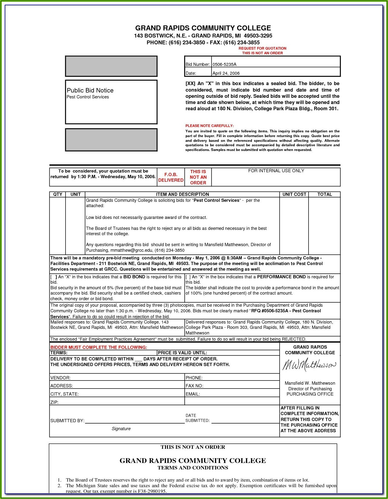 Free Pest Control Service Agreement Form