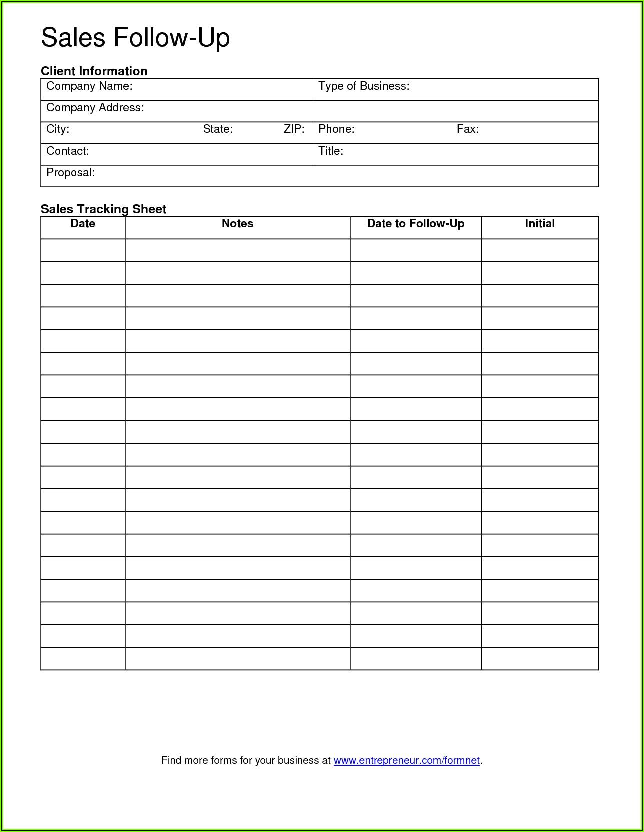 Free Printable Sales Lead Form Template