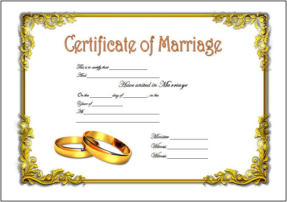 Free Vintage Marriage Certificate Template