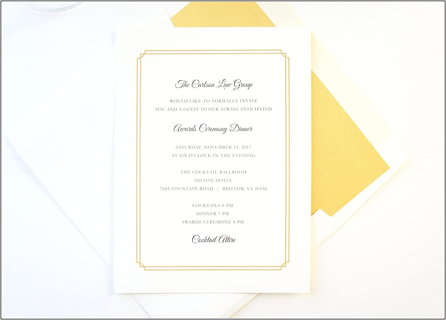 Fundraising Dinner Invitation Template