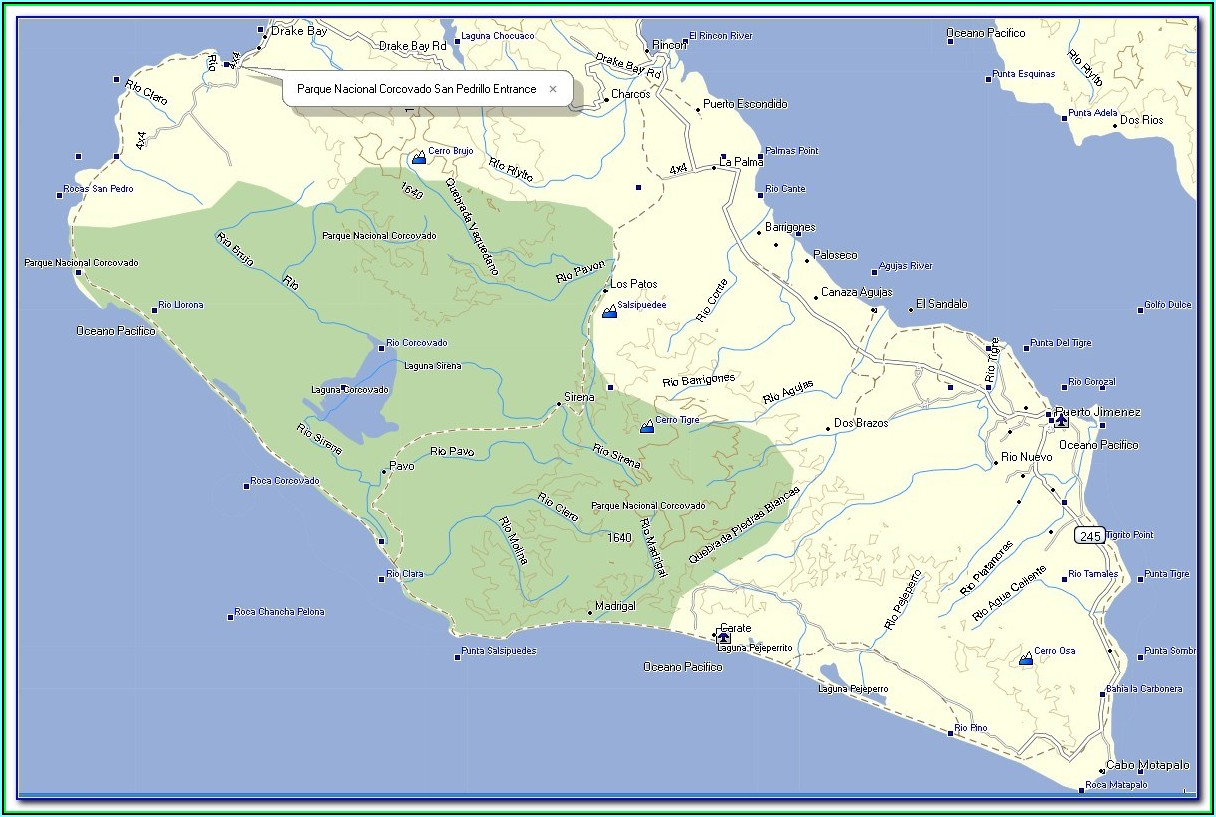 Garmin Nuvi Costa Rica Map