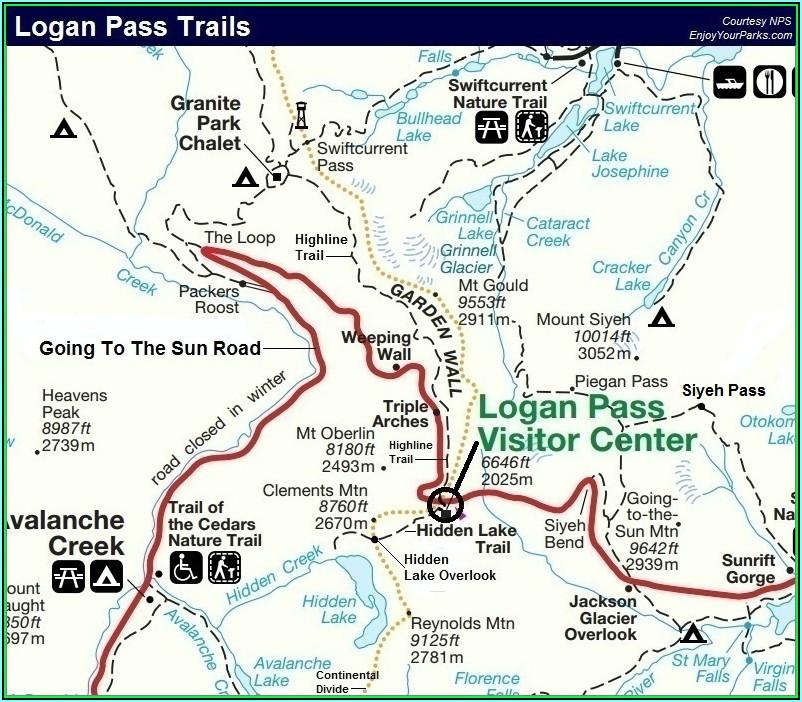 Glacier National Park Hiking Map Pdf