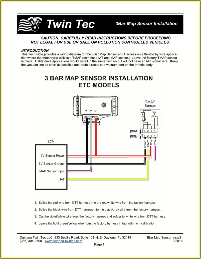 Gm 1 Bar Map Sensor Wiring