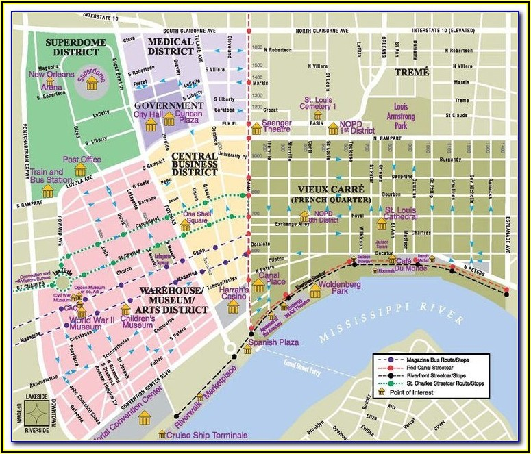 Google Maps French Quarter Hotels