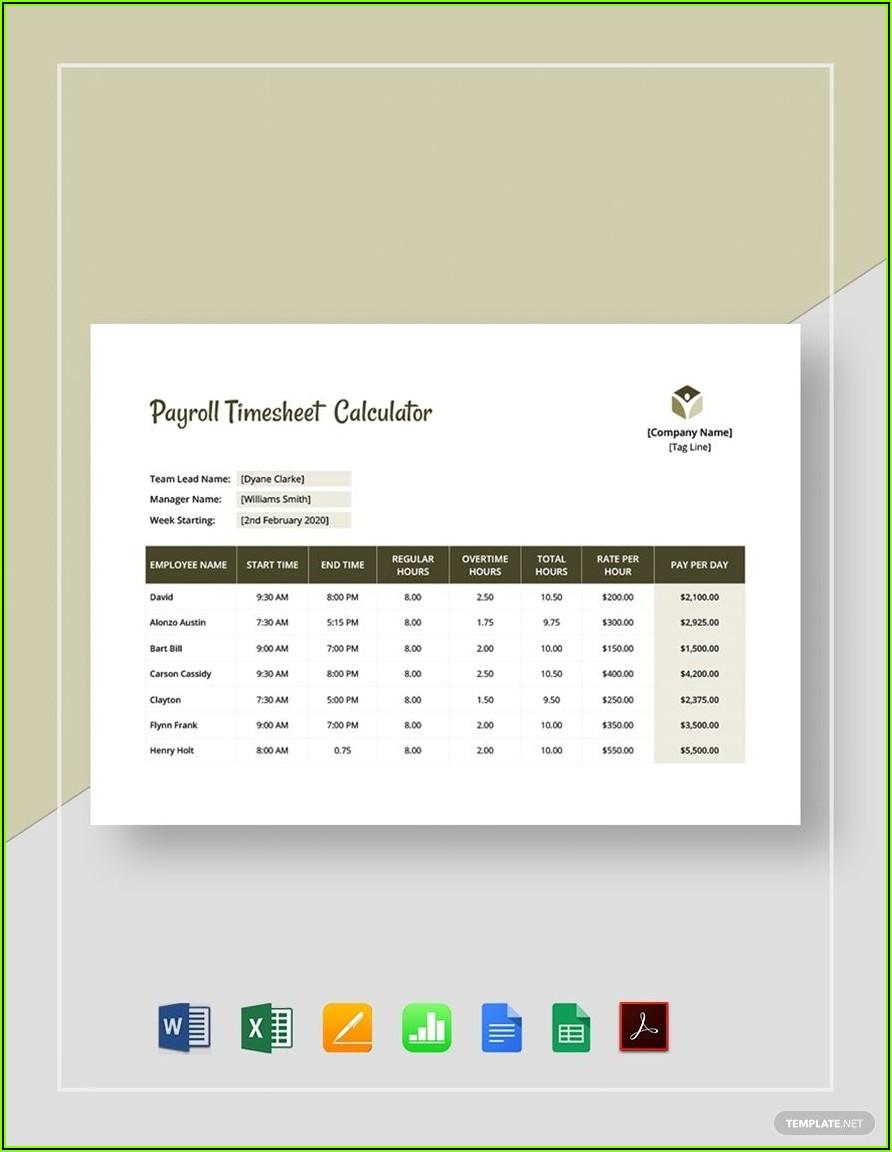 Google Sheets Payroll Template