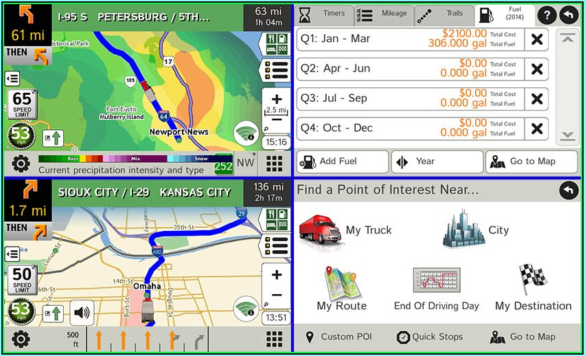 Gps Map For Truckers