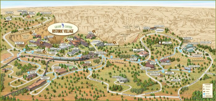 Grand Canyon Accommodations Map
