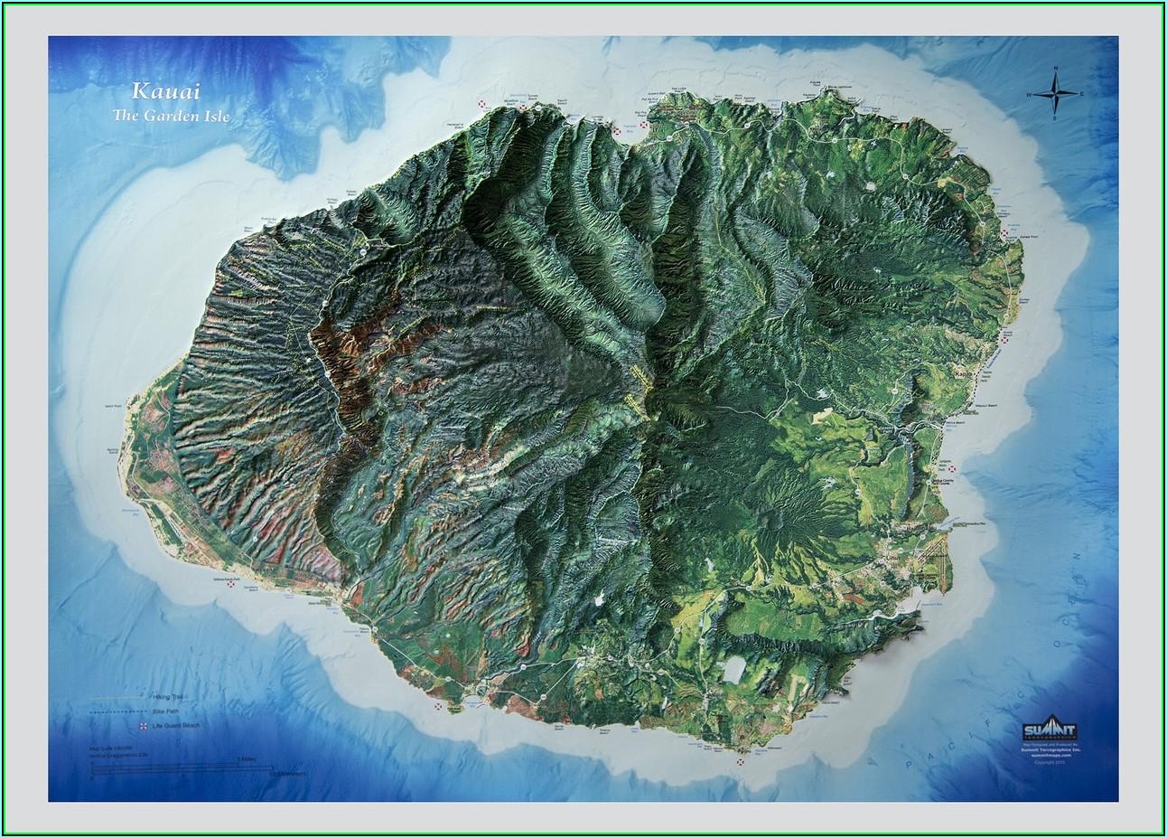 Hawaii Relief Map