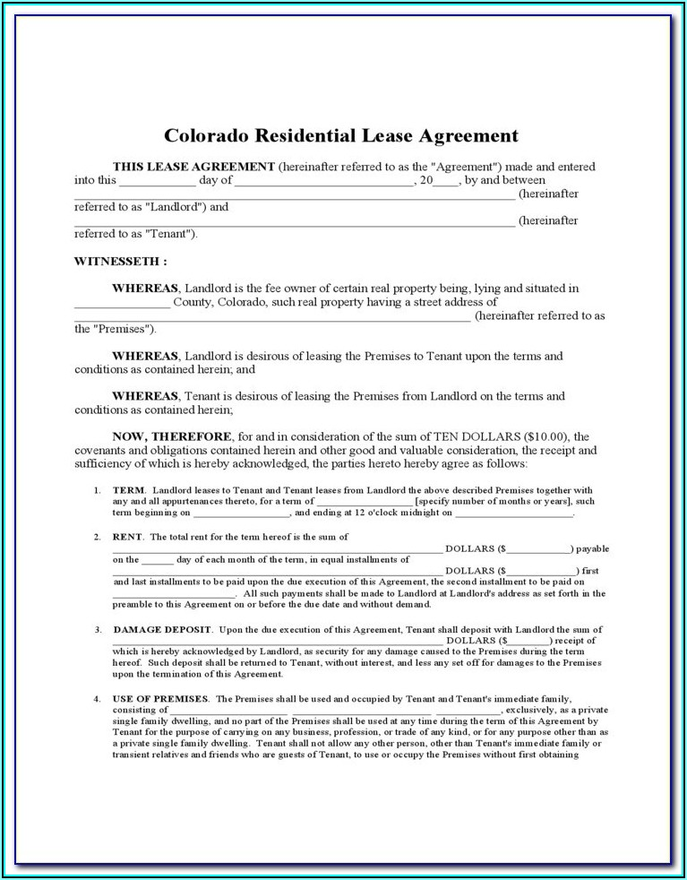 Hawaii Residential Lease Agreement Form Free