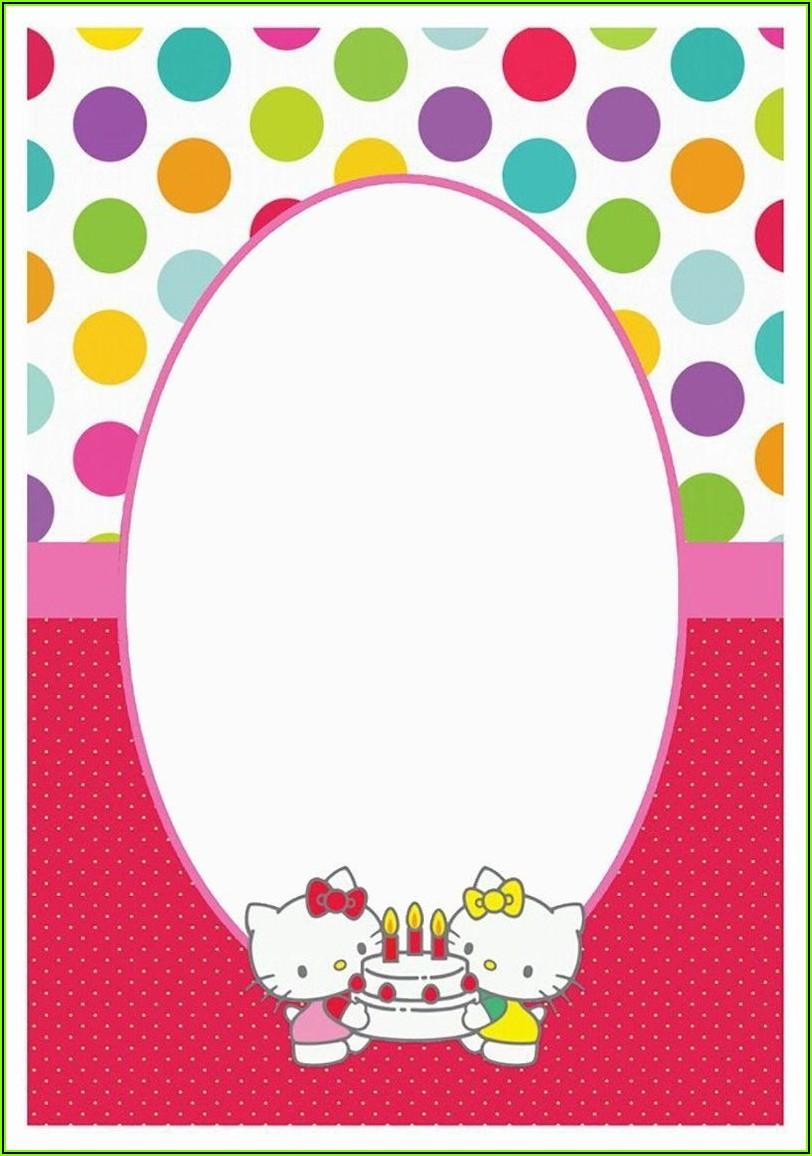 Hello Kitty Invitation Template Editable