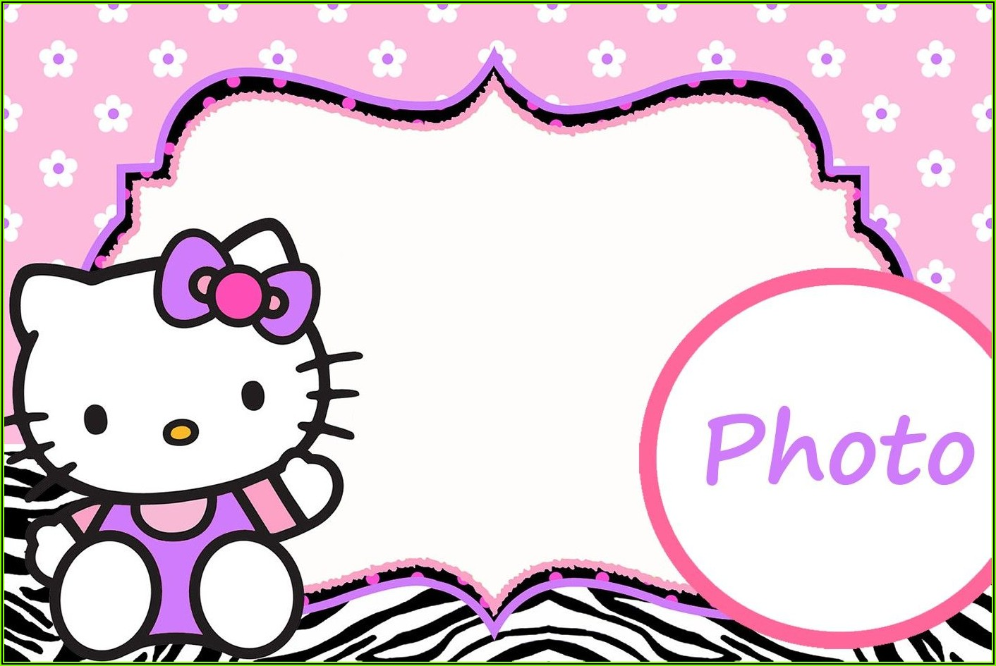 Hello Kitty Invitation Template