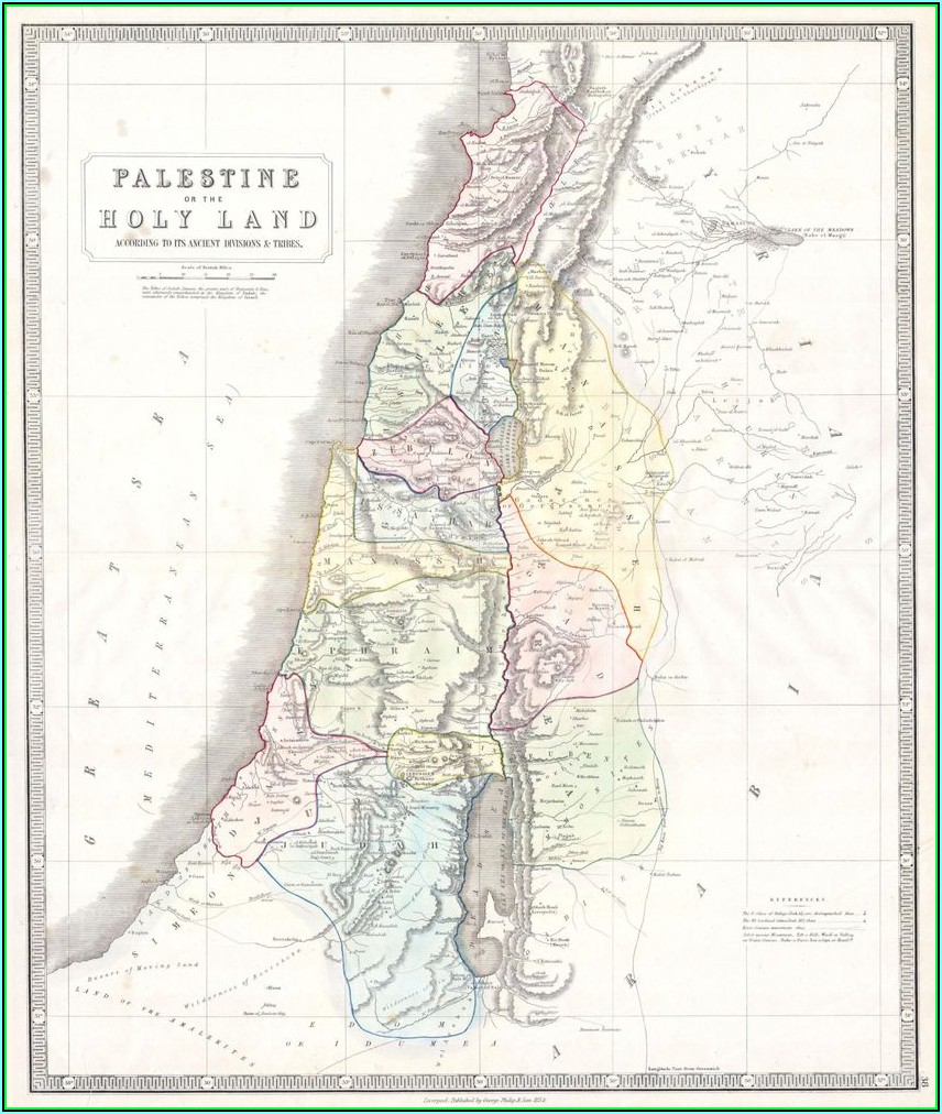 Historic Map Of Palestine