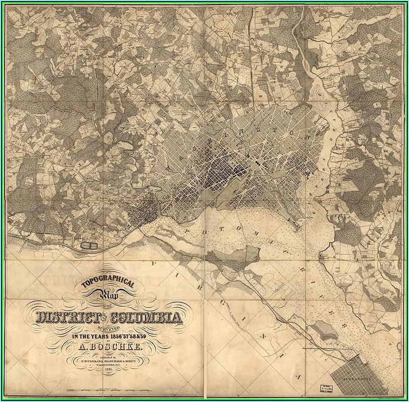 Historic Maps Of Washington Dc