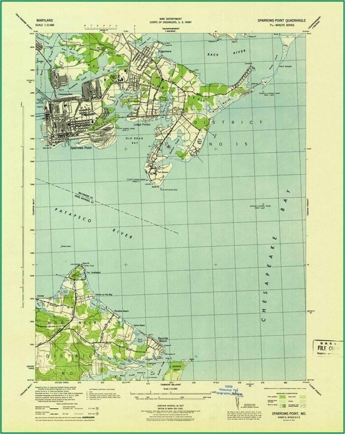 Historical Topo Maps Maryland