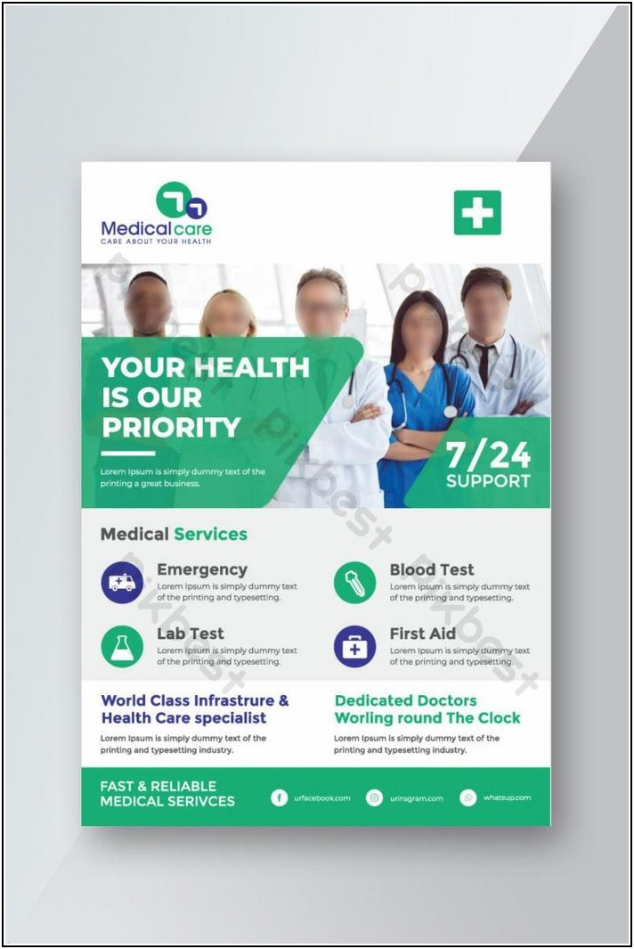Hospital Brochure Design Templates Free Download