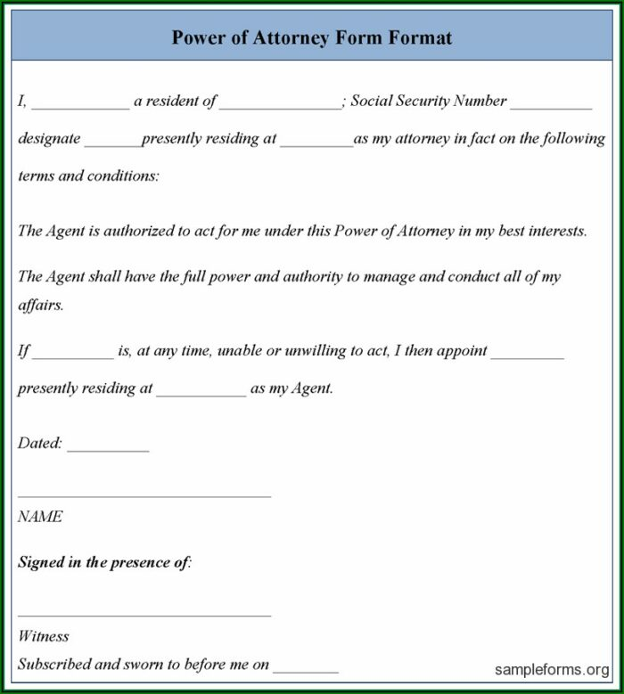 How To Get A Power Of Attorney Form