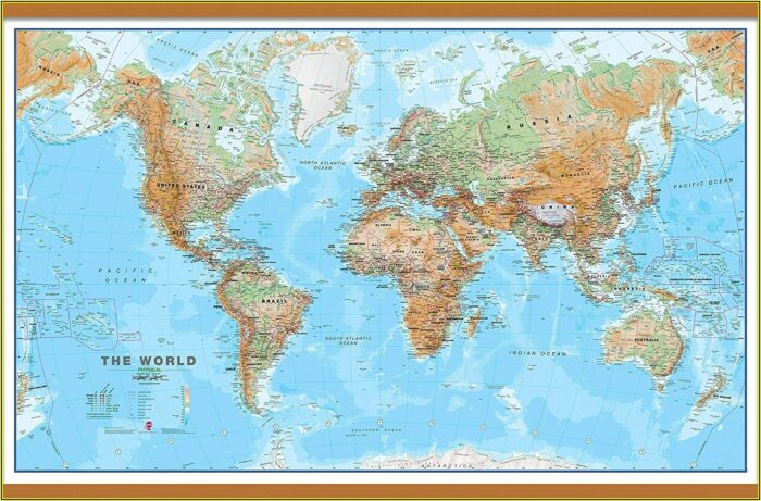 Huge World Wall Maps