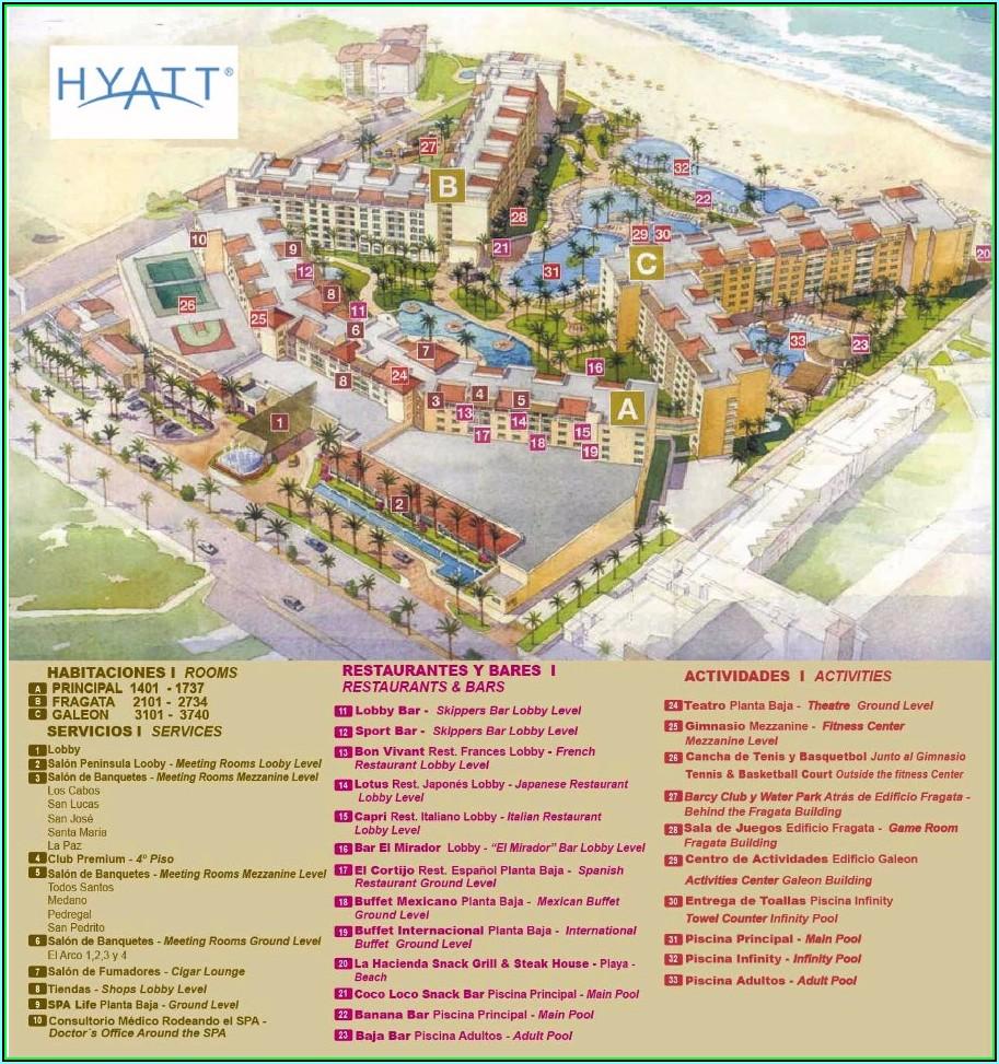 Hyatt Ziva Los Cabos Hotel Map