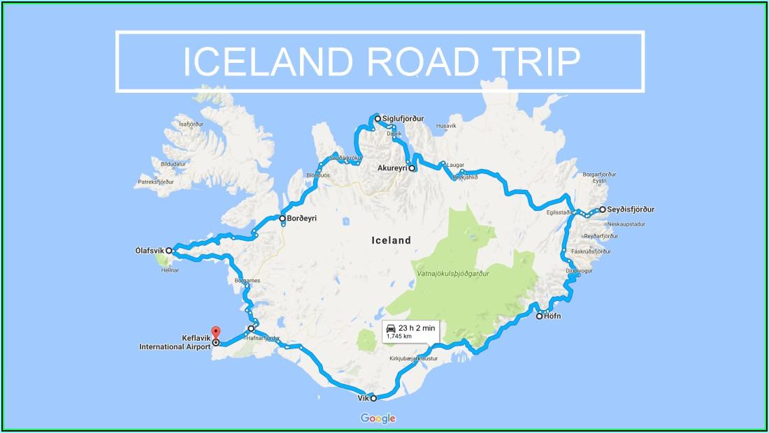 Iceland Road Trip Google Maps