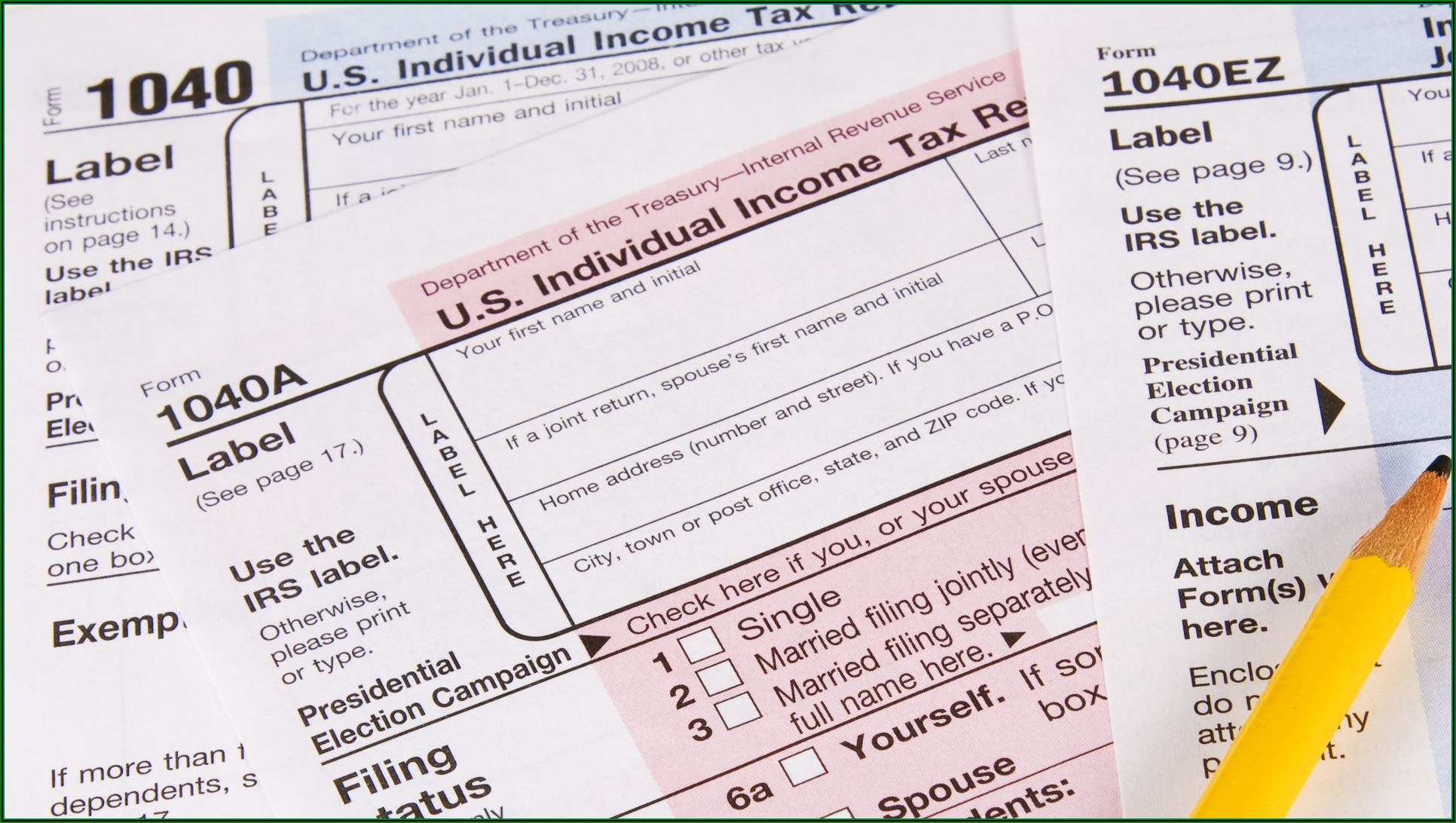 Irs.gov Tax Forms 1040a