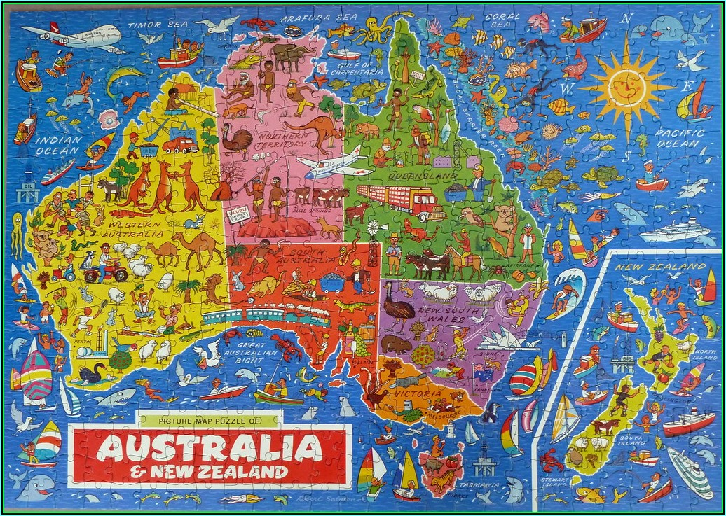 Jigsaw Puzzle Map Of Australia