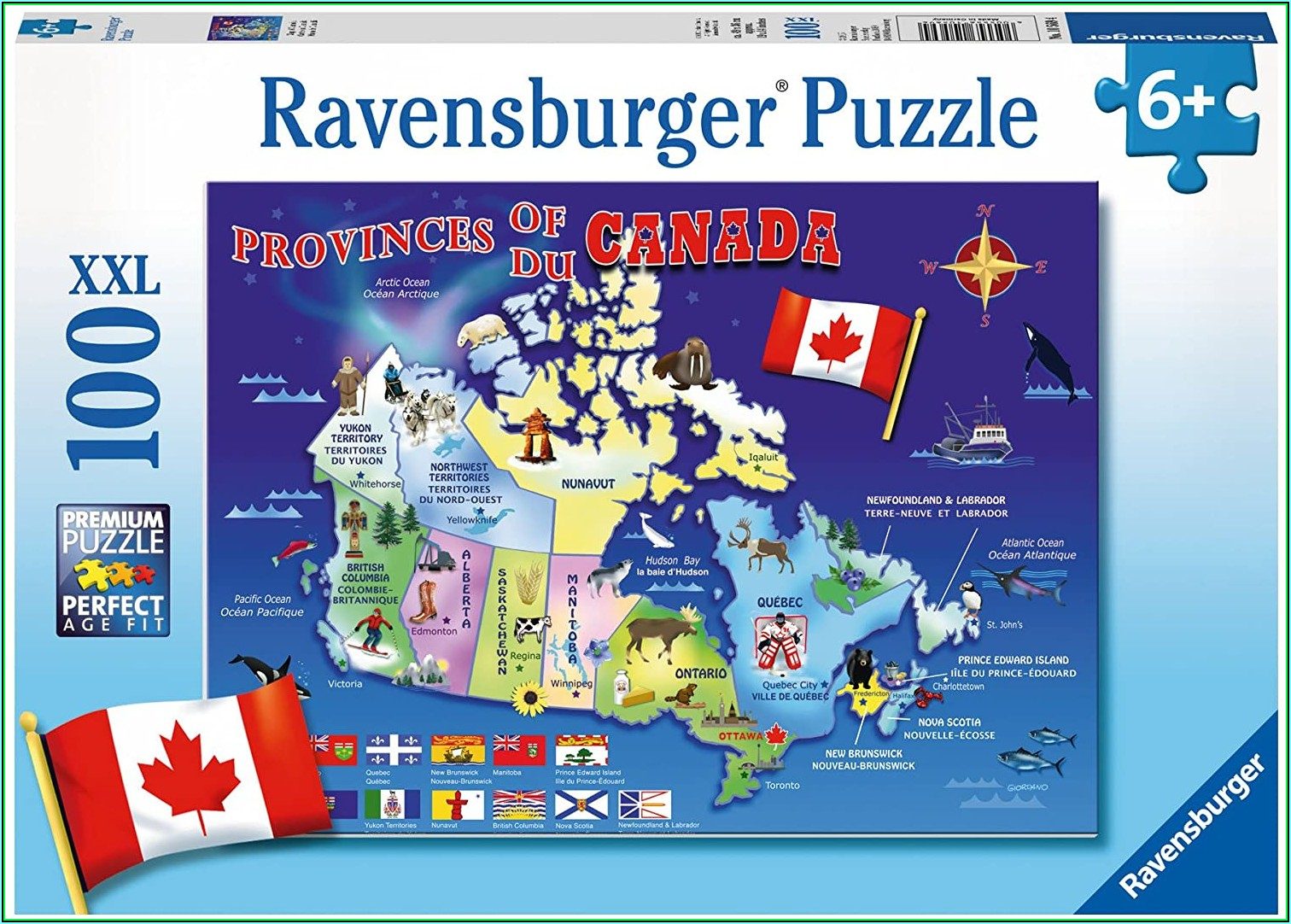 Jigsaw Puzzle Map Of Canada