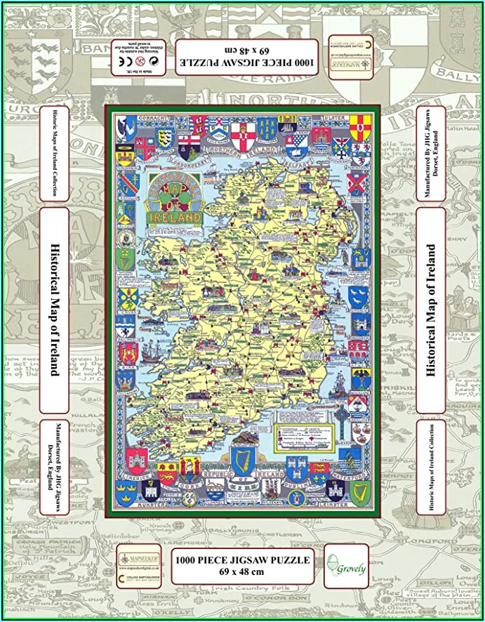Jigsaw Puzzle Map Of Ireland