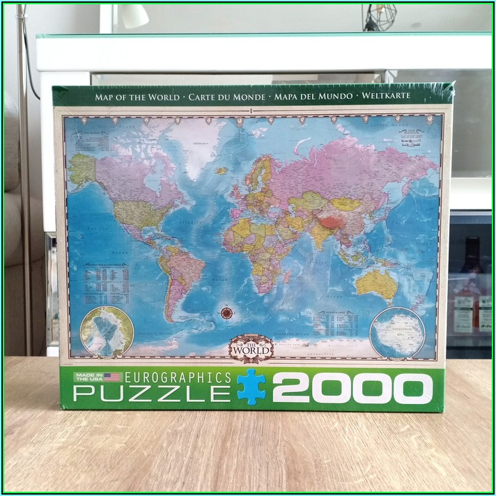 Jigsaw Puzzle Map Of The World