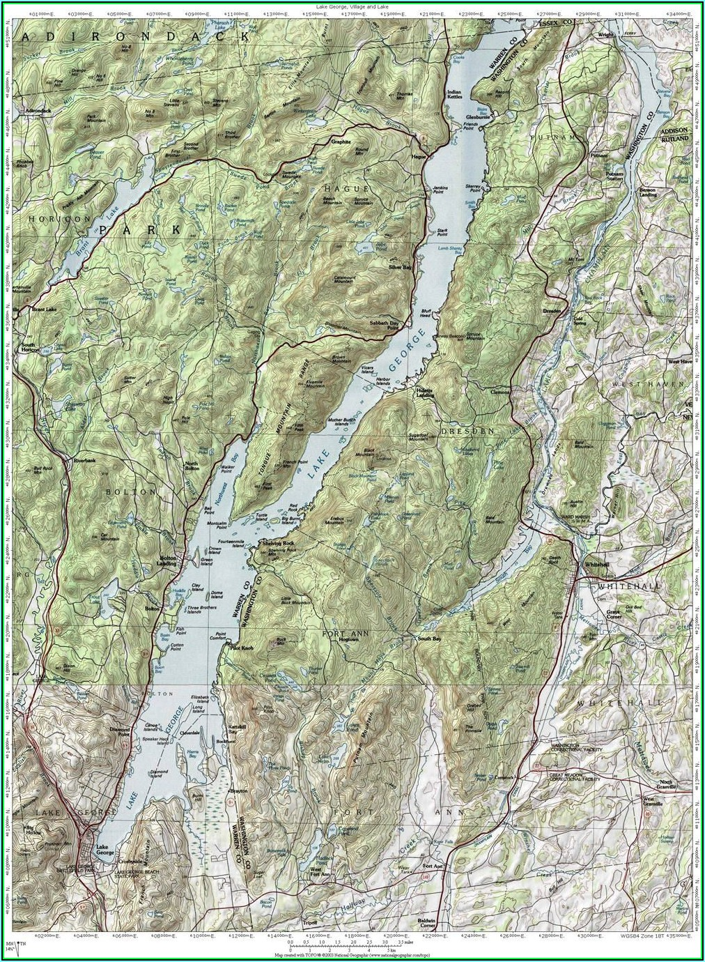 Lake George Ny Topographic Map