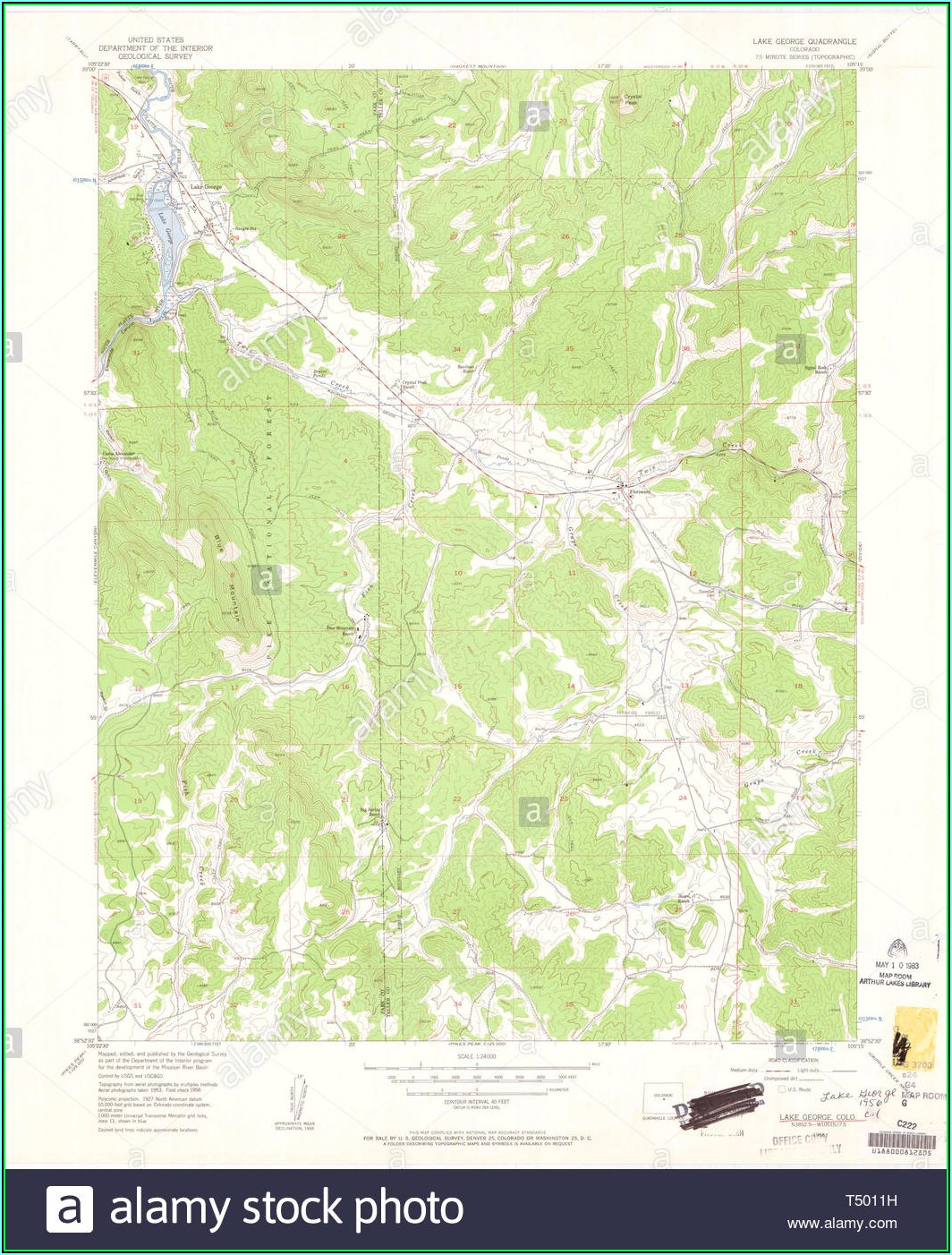 Lake George Topo Map