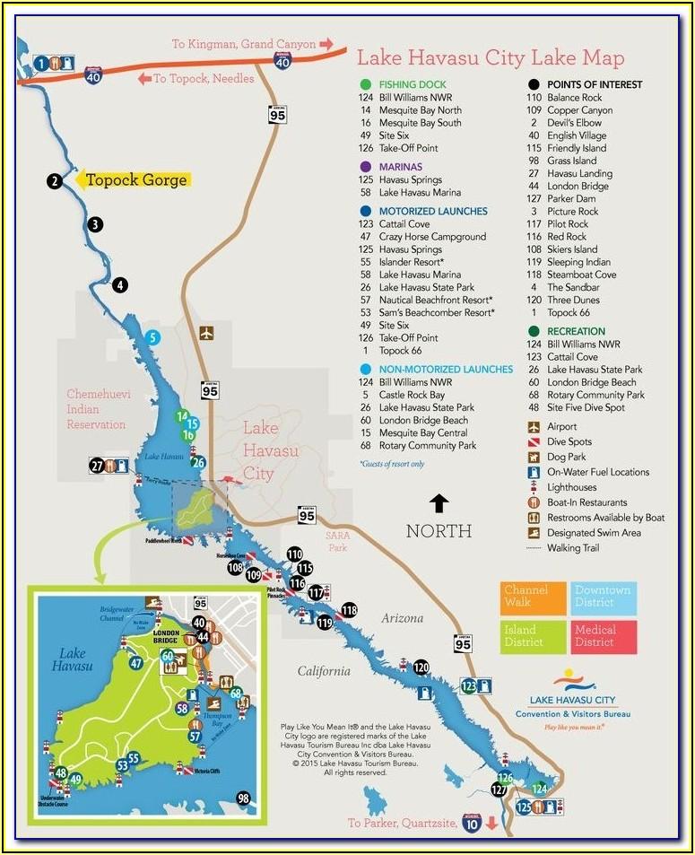 Lake Havasu Fishing Map