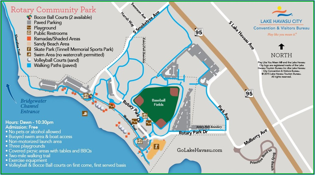 Lake Havasu Rv Parks Map