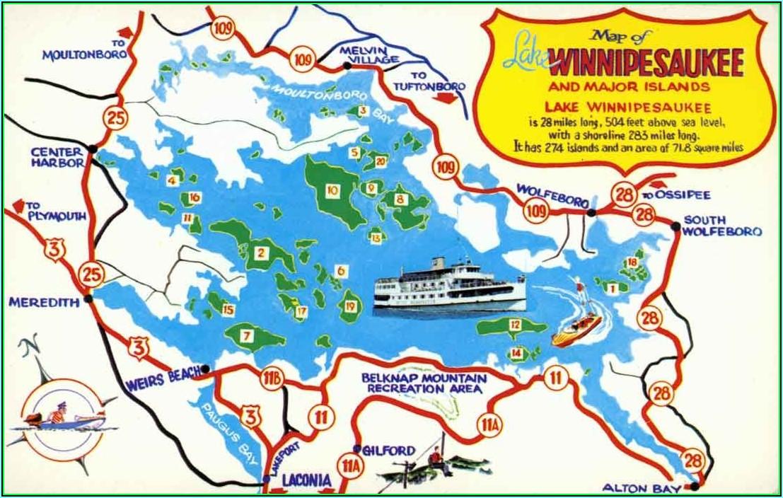 Lake Winnipesaukee Google Maps