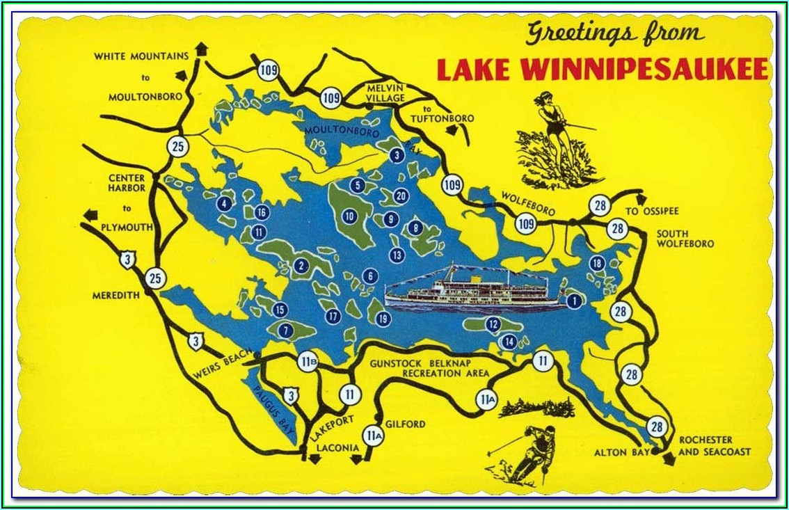 Lake Winnipesaukee Map Of Islands