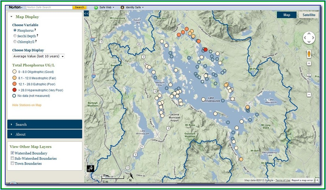 Lake Winnipesaukee Map Pdf