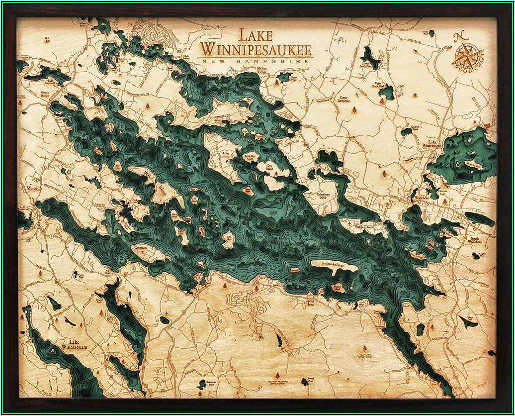 Lake Winnipesaukee Maps For Sale