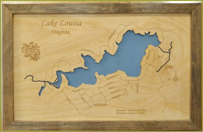 Laser Cut Lake Maps