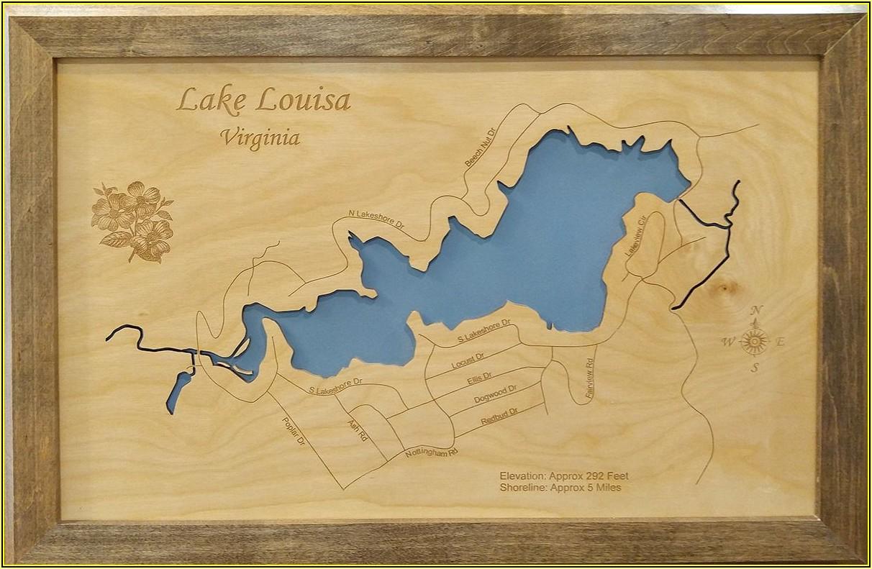 Laser Cut Lake Maps