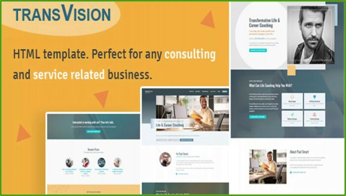 Life Coaching Website Template