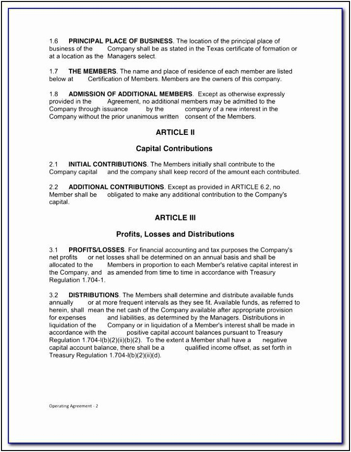 Llp Partnership Agreement Template Free
