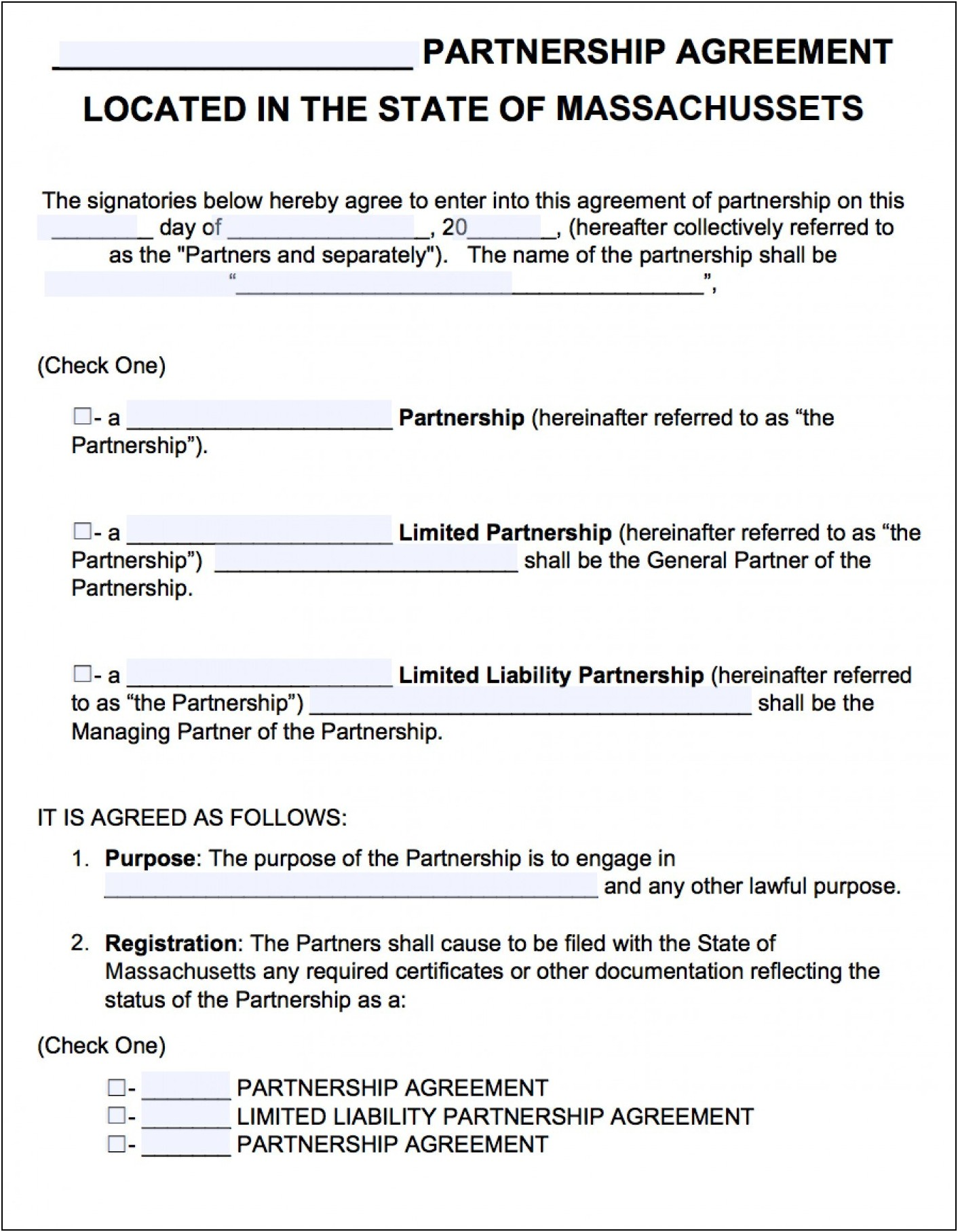 Llp Partnership Agreement Template Malaysia