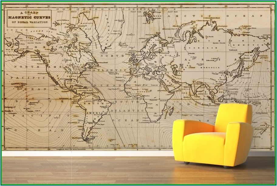 Magnetic Map Wall Decal
