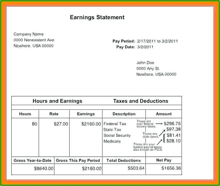Make Paycheck Stubs Templates Free